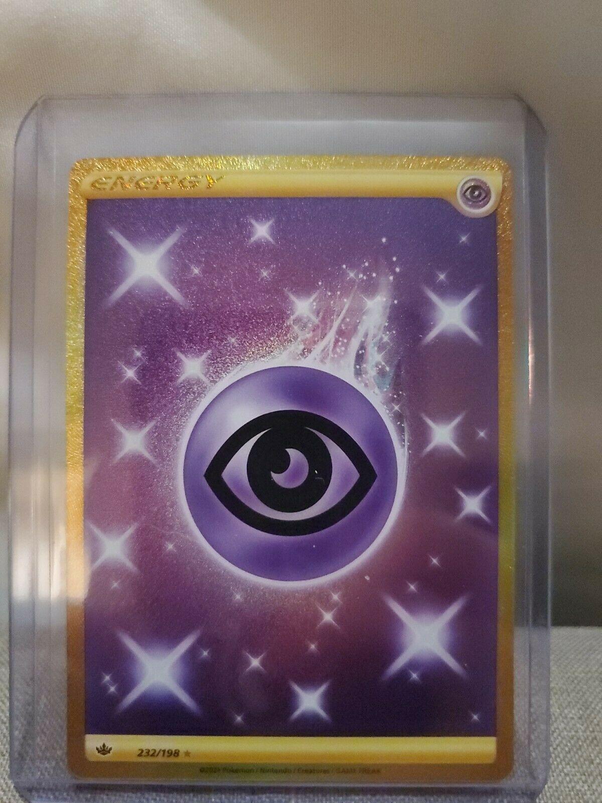 Psychic Energy 232/198 Gold Secret Rare Chilling Reign POKEMON TCG Nm/m