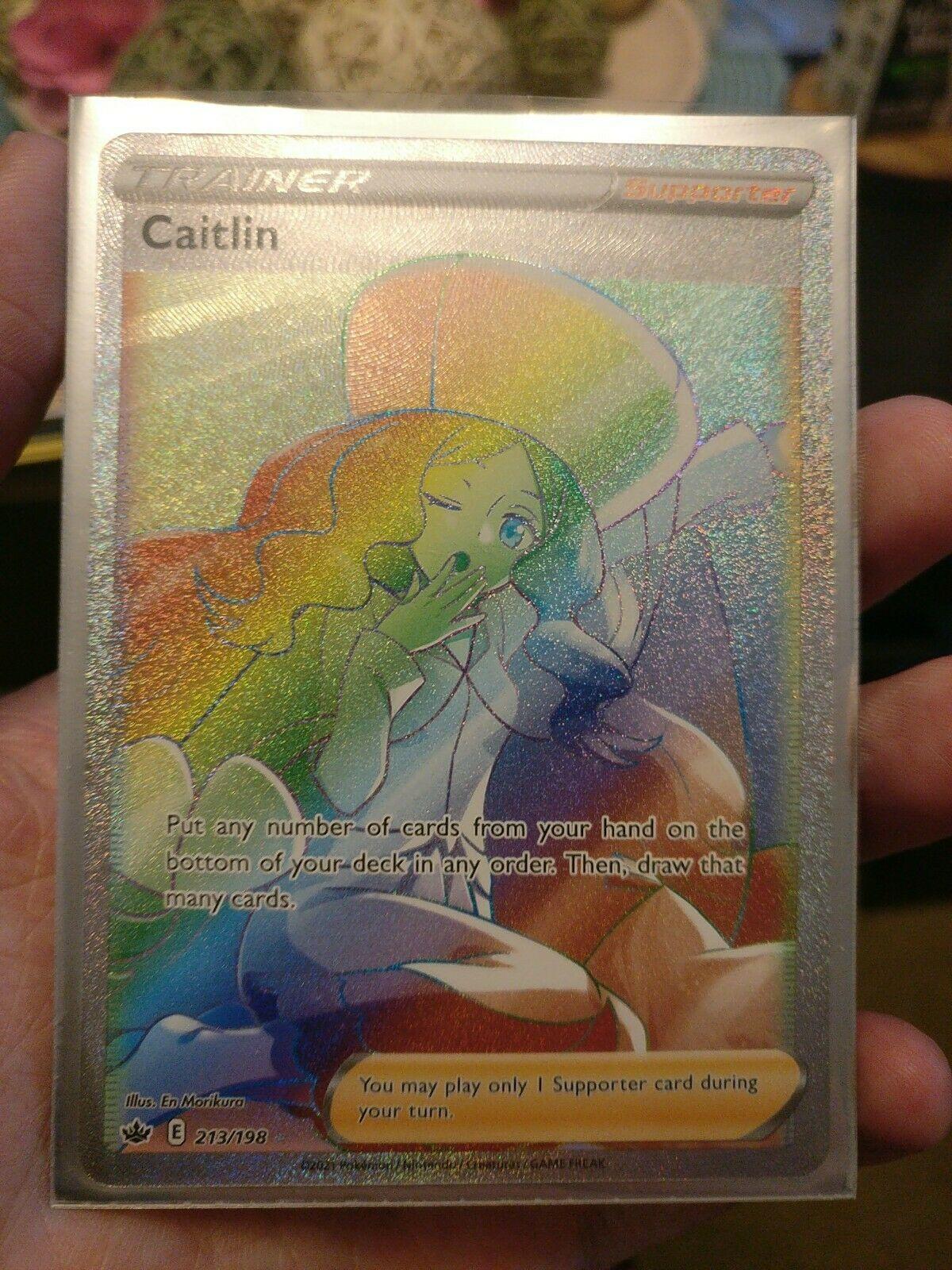Caitlin FULL ART   Trainer SECRET RARE 189/198 Pokemon Card 2021 Chilling Reign
