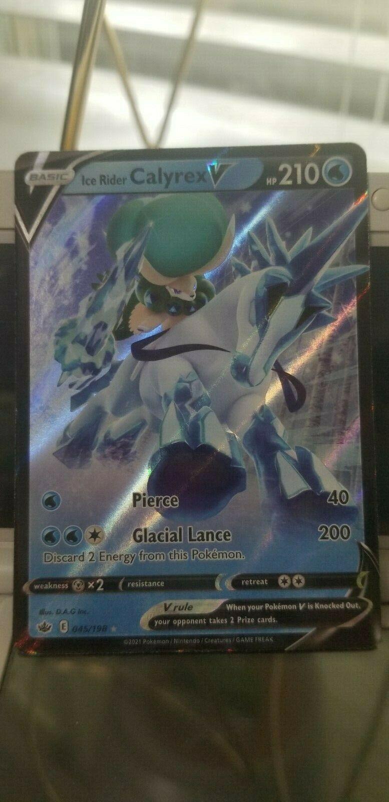 Pokemon Chilling Reign Ice Rider Calyrex V 163/198 Ultra Rare Full Art