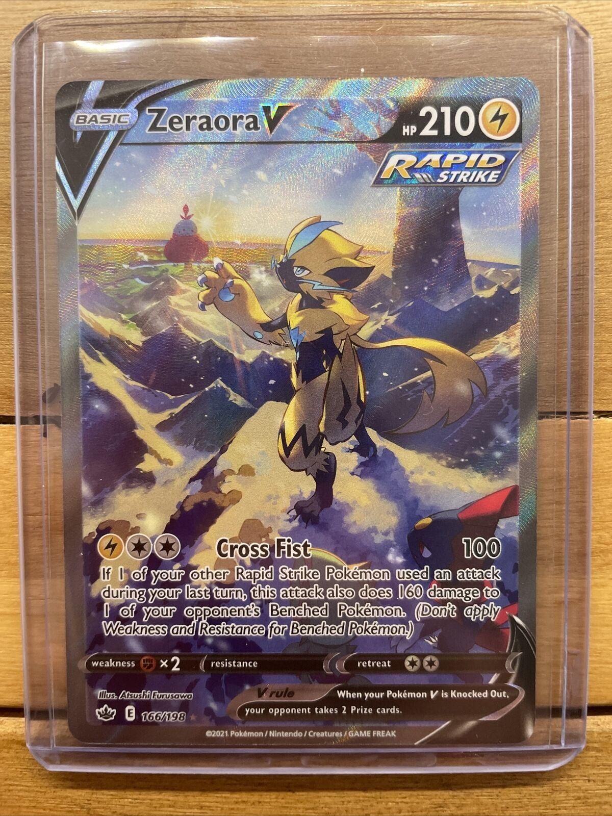 Pokemon Chilling Reign Zeraora V 166/198 Full Art/Alternate Art NM