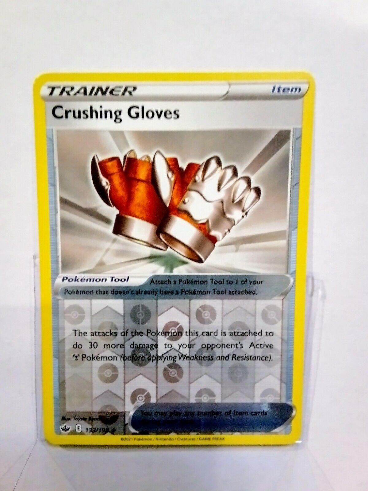 Pokemon Trainer Crushing Gloves 133/198 Reverse Holo Mint Chilling Reign