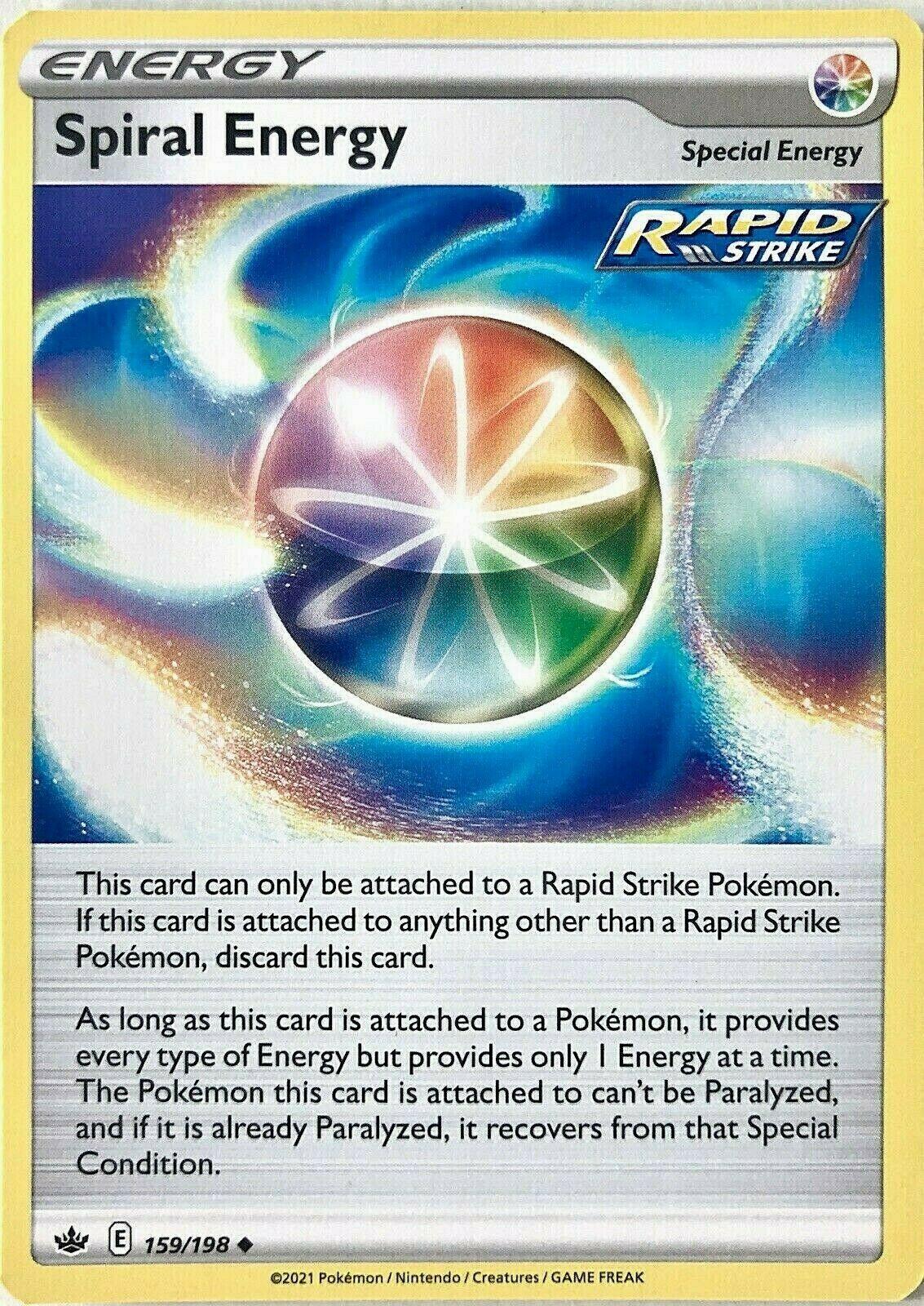 Spiral Energy 159/198 Rapid Strike Uncommon Non Holo Chilling Reign Pokemon