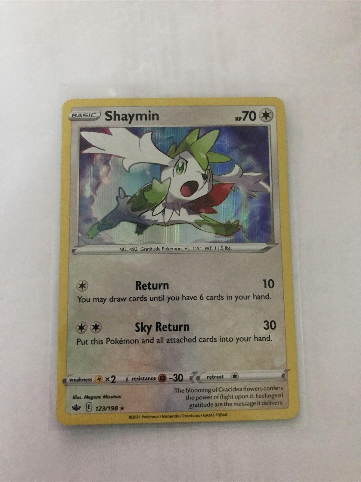 Pokemon TCG - Shaymin 123/198 Holo Rare - Chilling Reign - NM