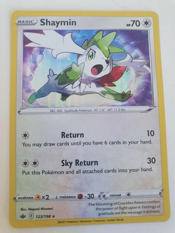 Pokemon SWSH Chilling Reign - 123/198 Shaymin - Holo Rare