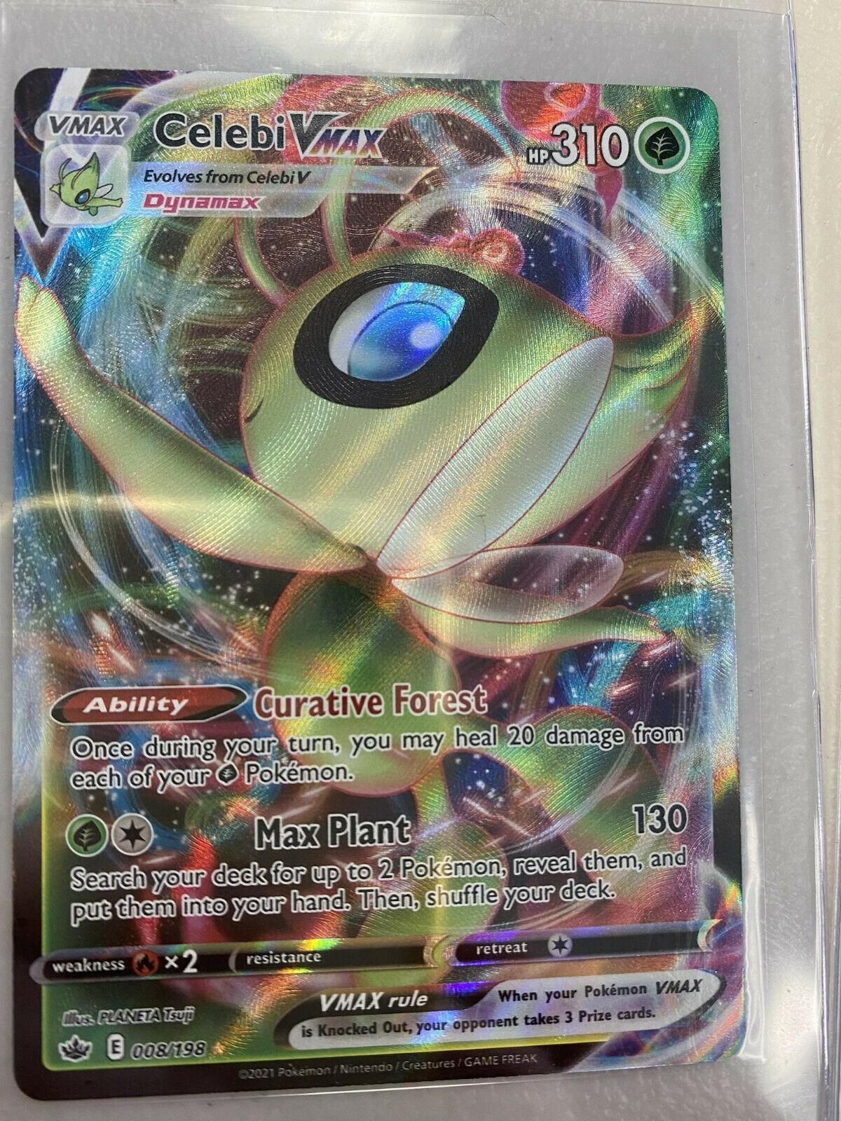 Celebi Vmax 008/198 Chilling Reign NM Full Art Ultra Rare Pokemon Card