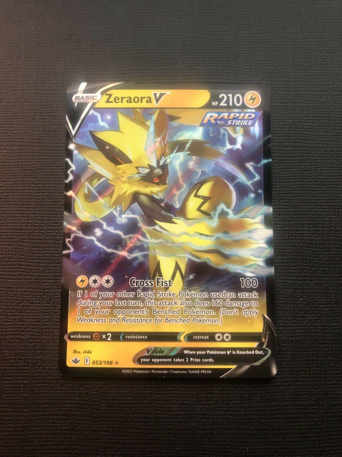 Zeraora V 053/198 Full Art Ultra Rare Pokemon Chilling Reign NM/M
