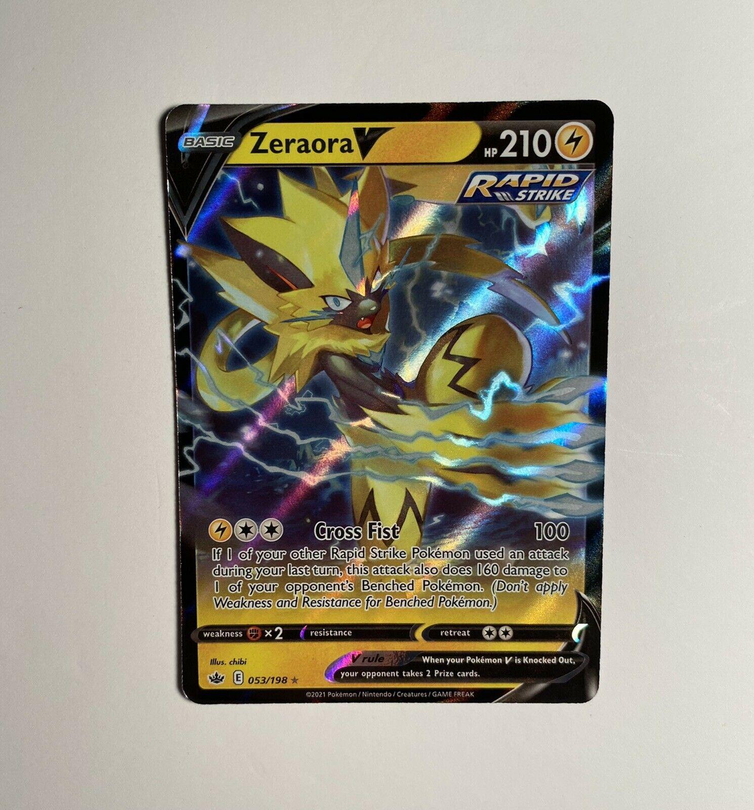 Pokemon TCG Chilling Reign Zeraora V Ultra Rare Holo 053/198 NM