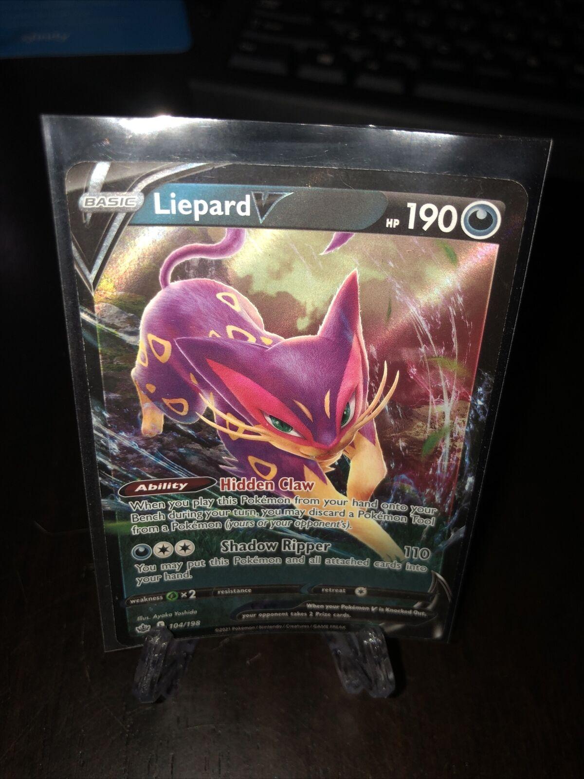 POKEMON TCG CARD Liepard V 104/198 Chilling Reign 2021 Ultra Rare Holofoil - NM