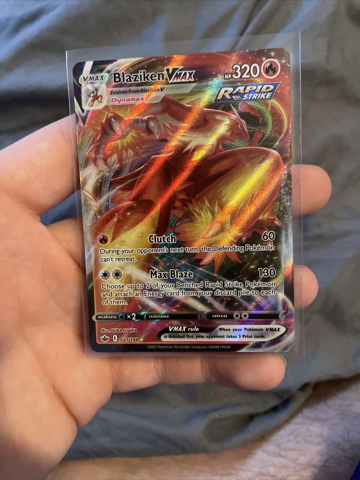 Blaziken VMAX 021/198 Full Art Holo Rare Chilling Reign Pokemon Card M/NM