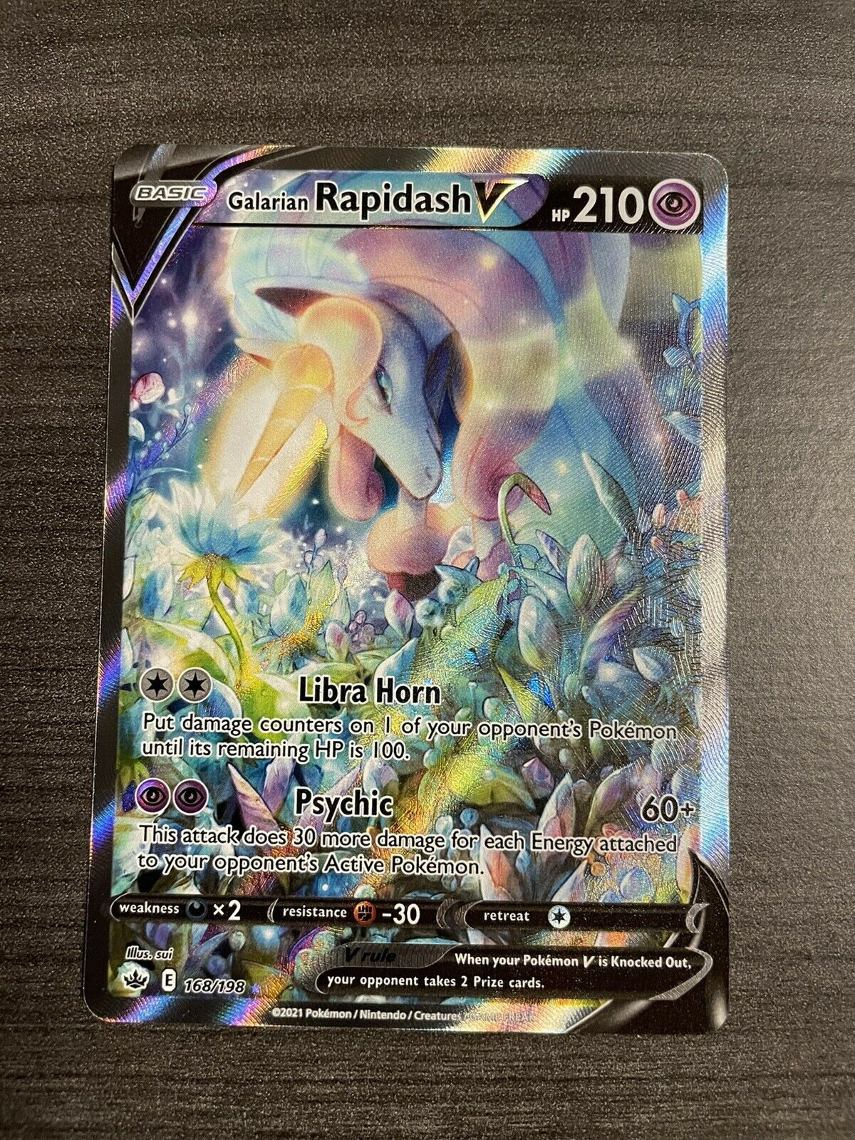 Galarian Rapidash V 168/198 Chilling Reign Brand New Great Centering