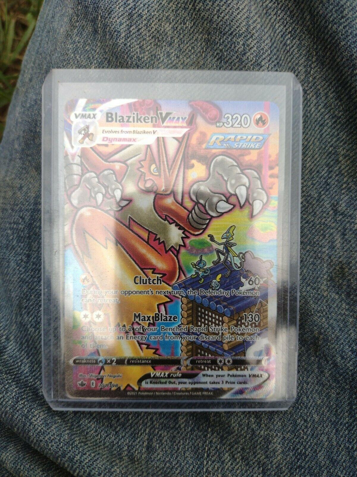 Blaziken VMAX Chilling Reign 201/198 Alt Full Art NM-M Pokemon Secret Rare FRESH