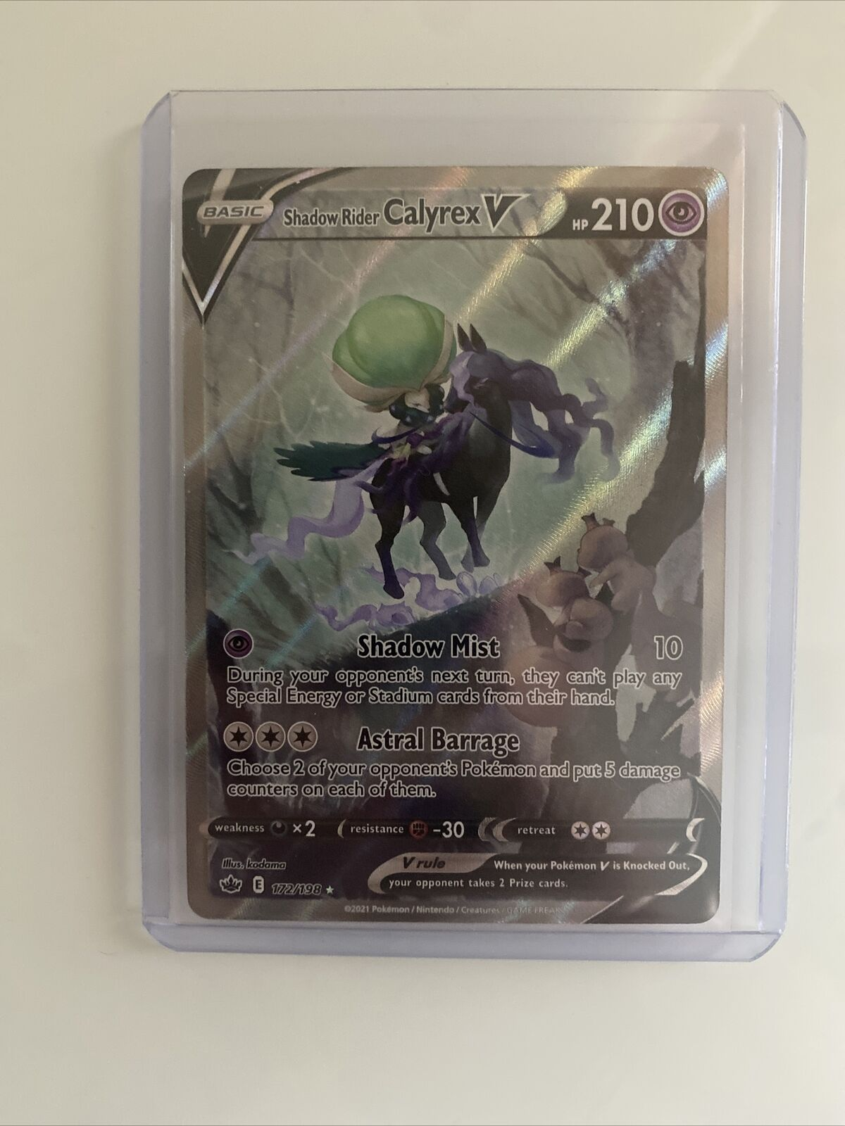Pokemon - Shadow Rider Calyrex V - 172/198 - Chilling Reign - Alternate Art NM