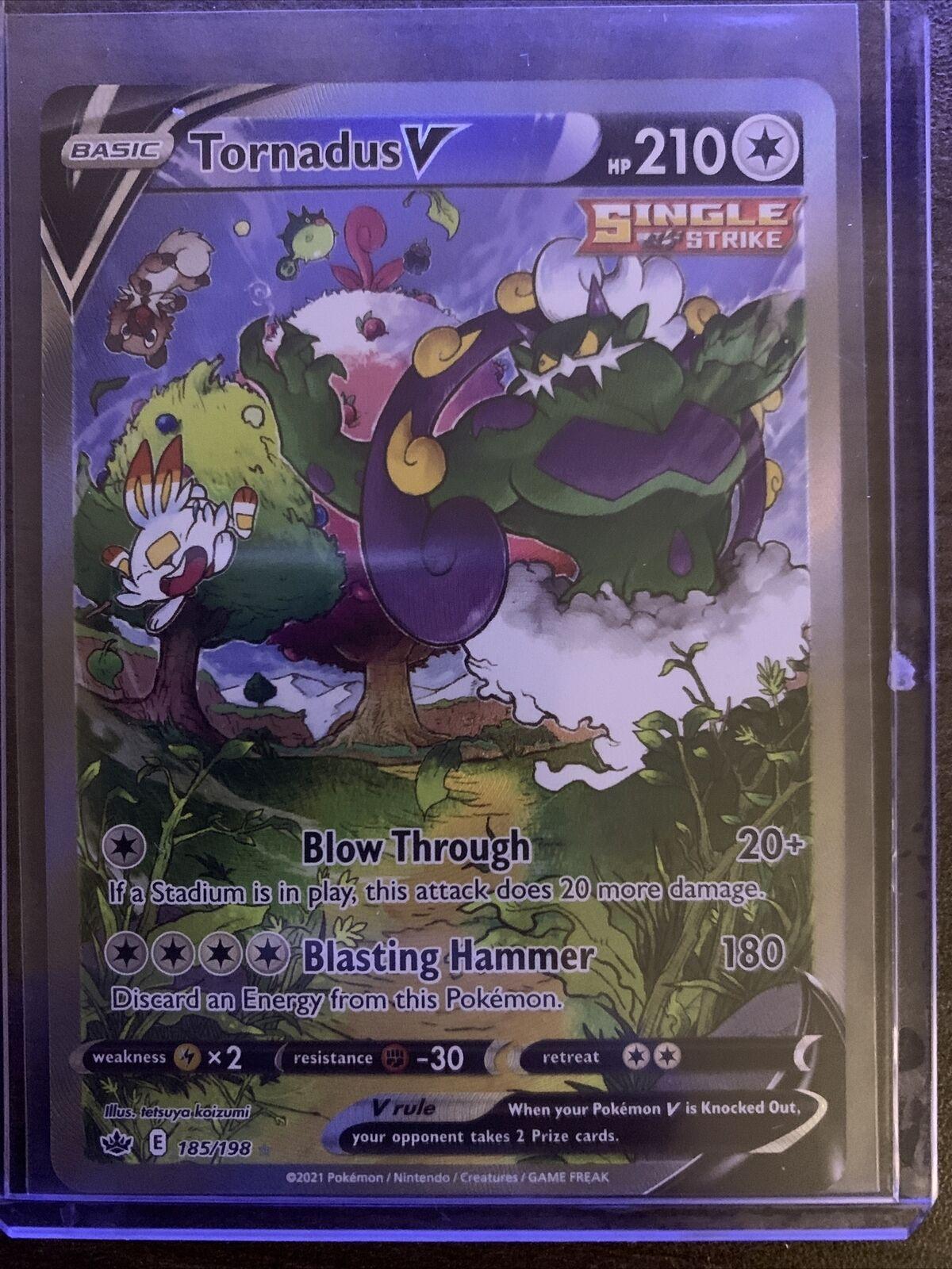 Tornadus V 185/198 Alternate Art Gem Mint Chilling Reign Pokemon Card