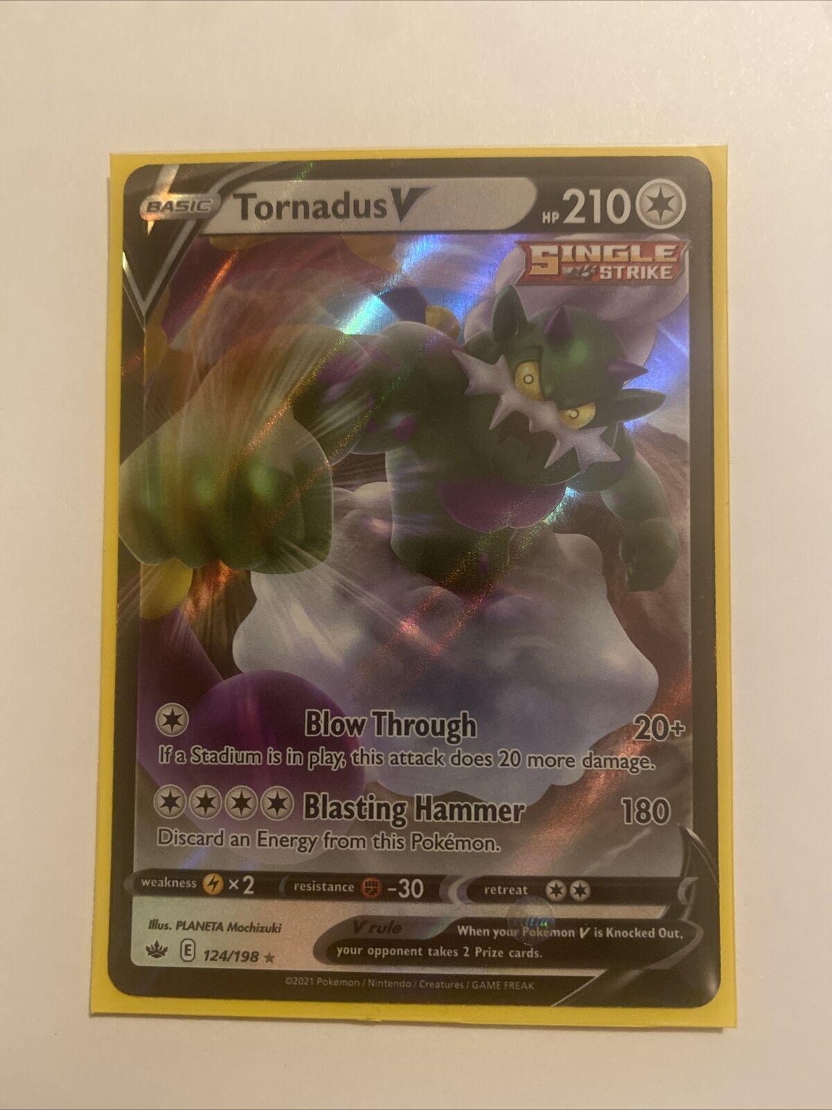 Tornadus V 124/198 Chilling Reign Full Art Ultra Rare Pokemon Card TCG