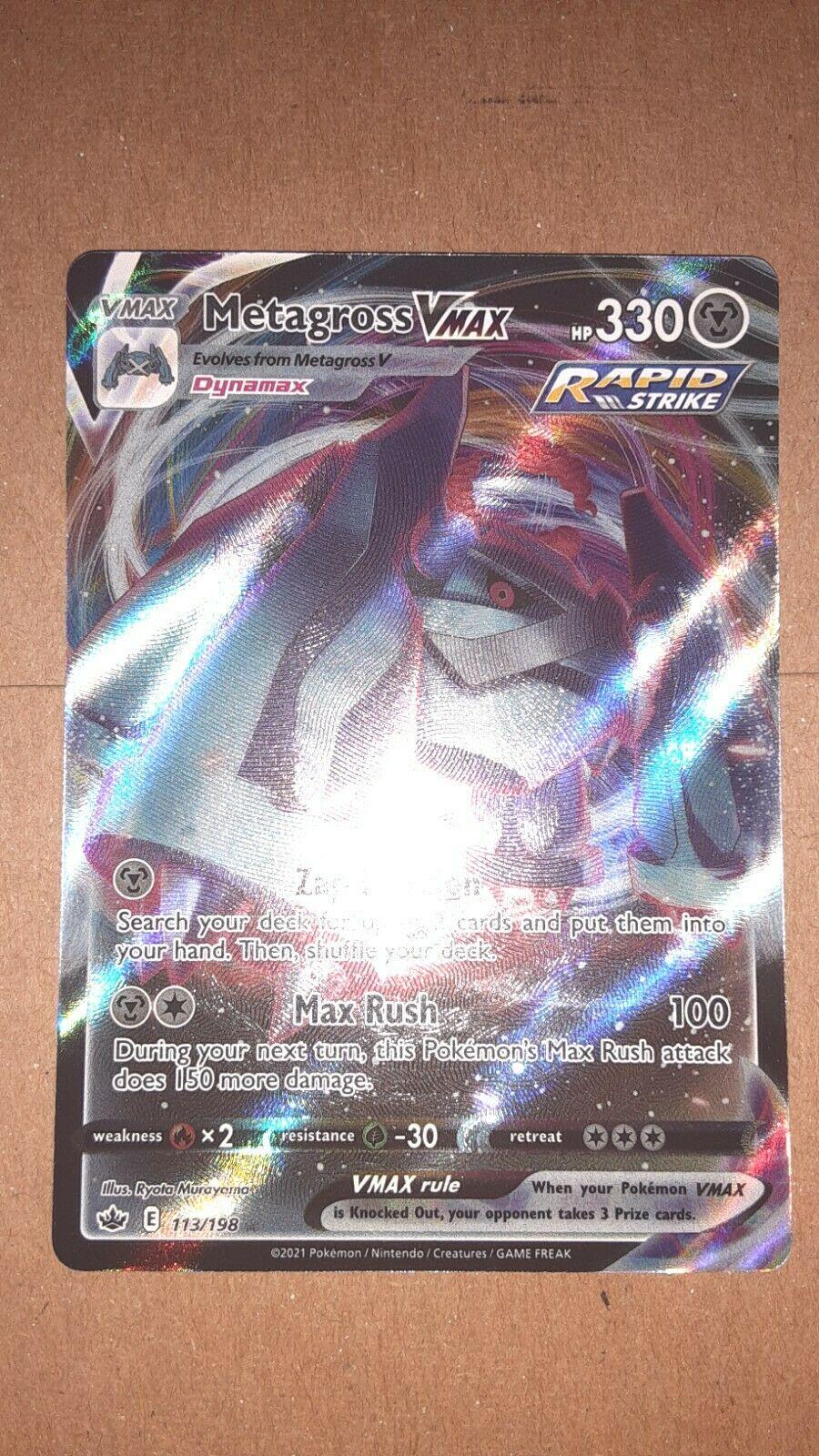 Pokemon TCG Chilling Reign Metagross VMAX Ultra Rare #113/198