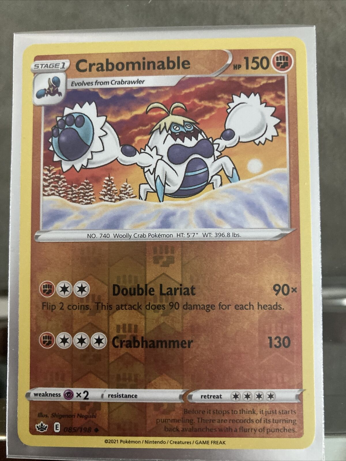 2021 Pokemon TCG Chilling Reign Crabominable - 085/198 - Uncommon NM