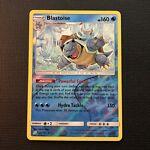 Blastoise - 25/181 - Rare Reverse Holo Near Mint Sun & Moon Team Up Pokemon Card