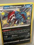 Pokemon -Shining Fates -Galarian Obstagoon - SV080/SV122 - Shiny Holo Rare -NM/M