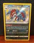 Pokemon Galarian Obstagoon SV080/SV122 Shiny Vault Holo Rare Shining Fates
