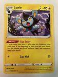 Pokemon TCG - Shining Fates Luxio Uncommon Card Crimped Misprint - 032/072