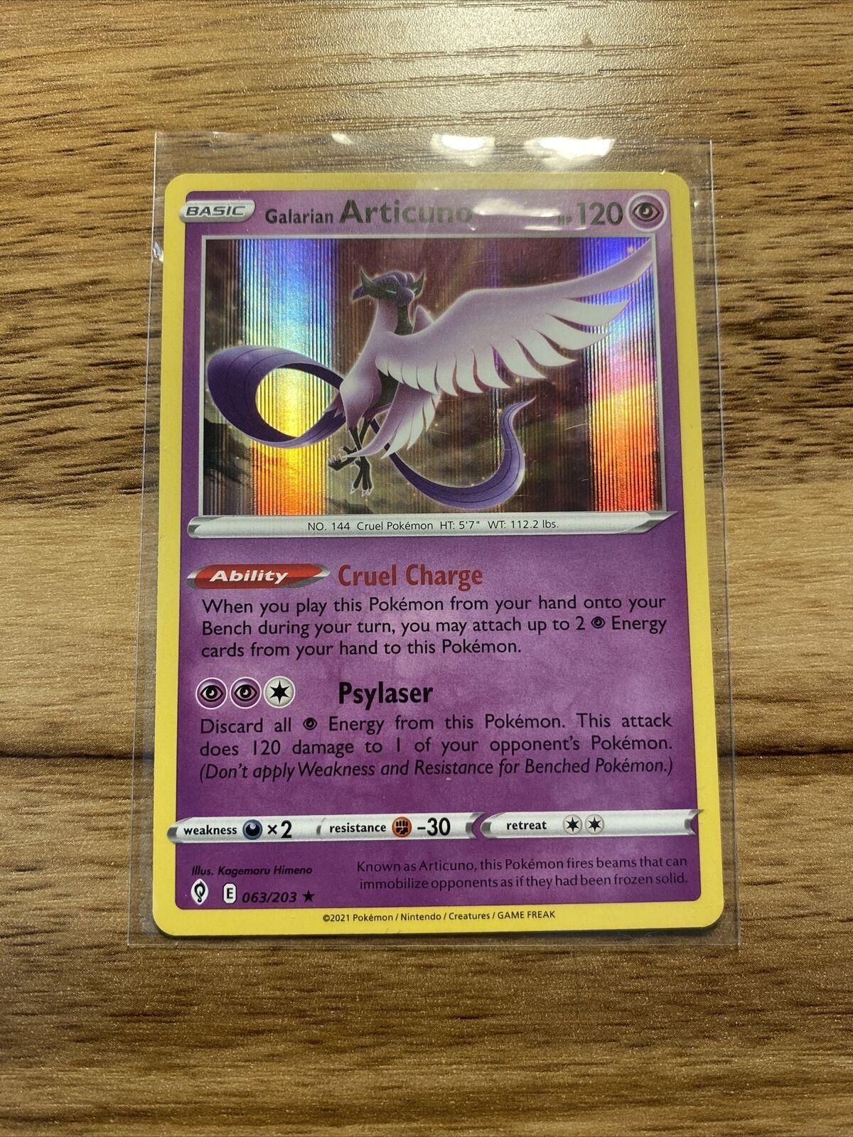 Galarian Articuno 063/203 Holo Rare Evolving Skies Pokemon Card Near Mint - Mint