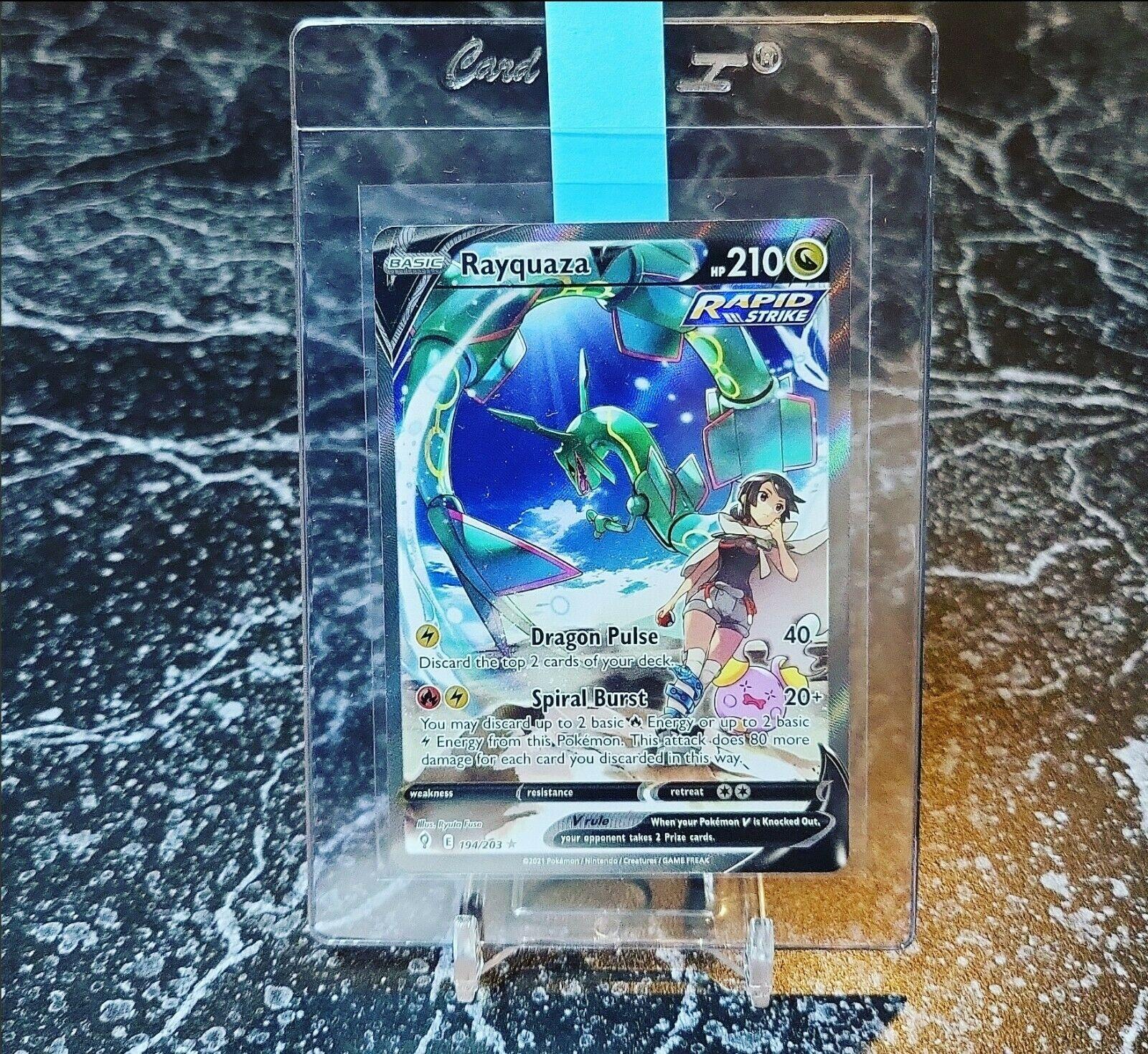 Pokemon Rayquaza V Alternate Art 194/203 Evolving Skies - Mint