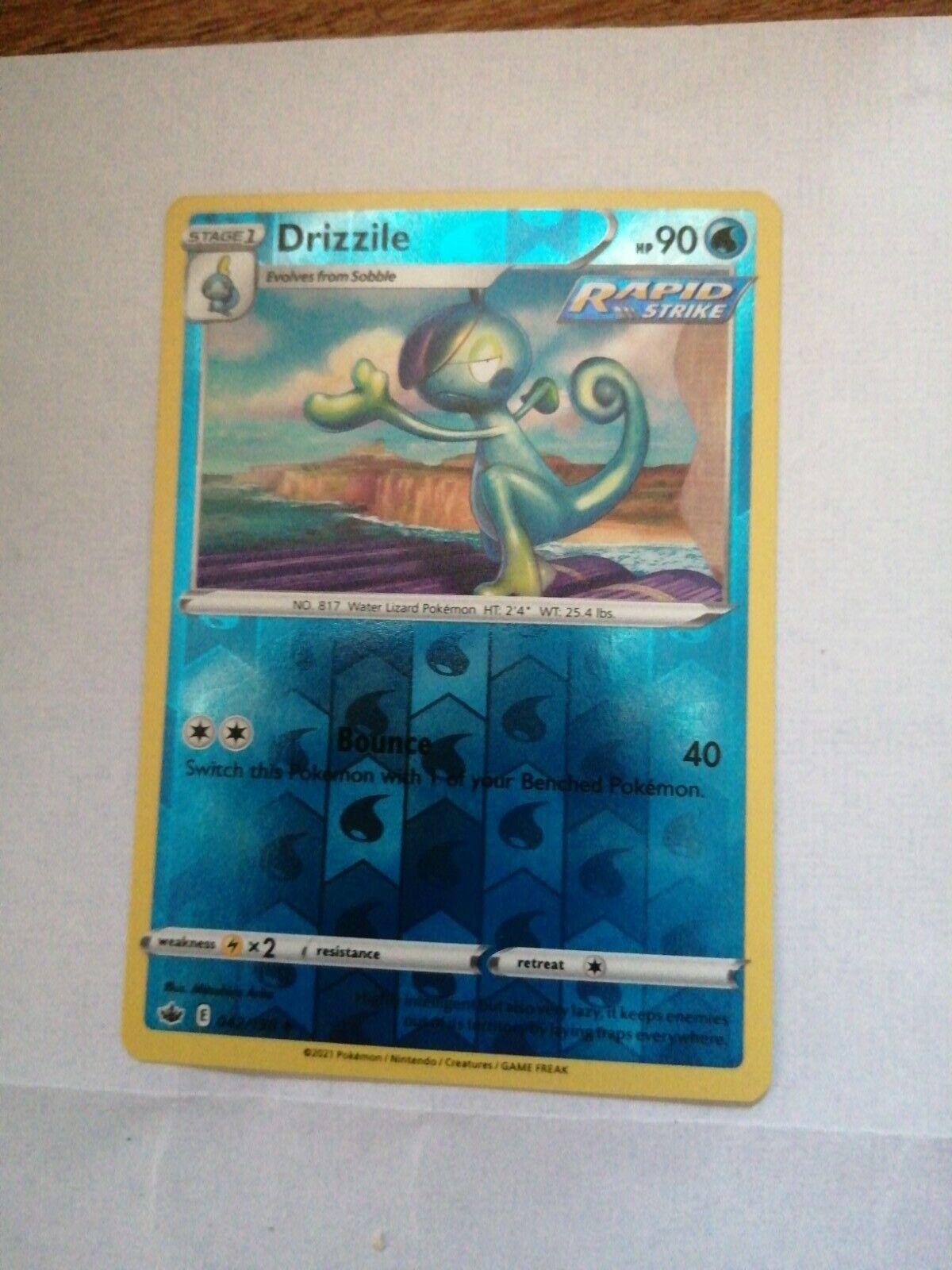 Drizzile 042/198 - Reverse Holo - Pokemon Chilling Reign TCG -