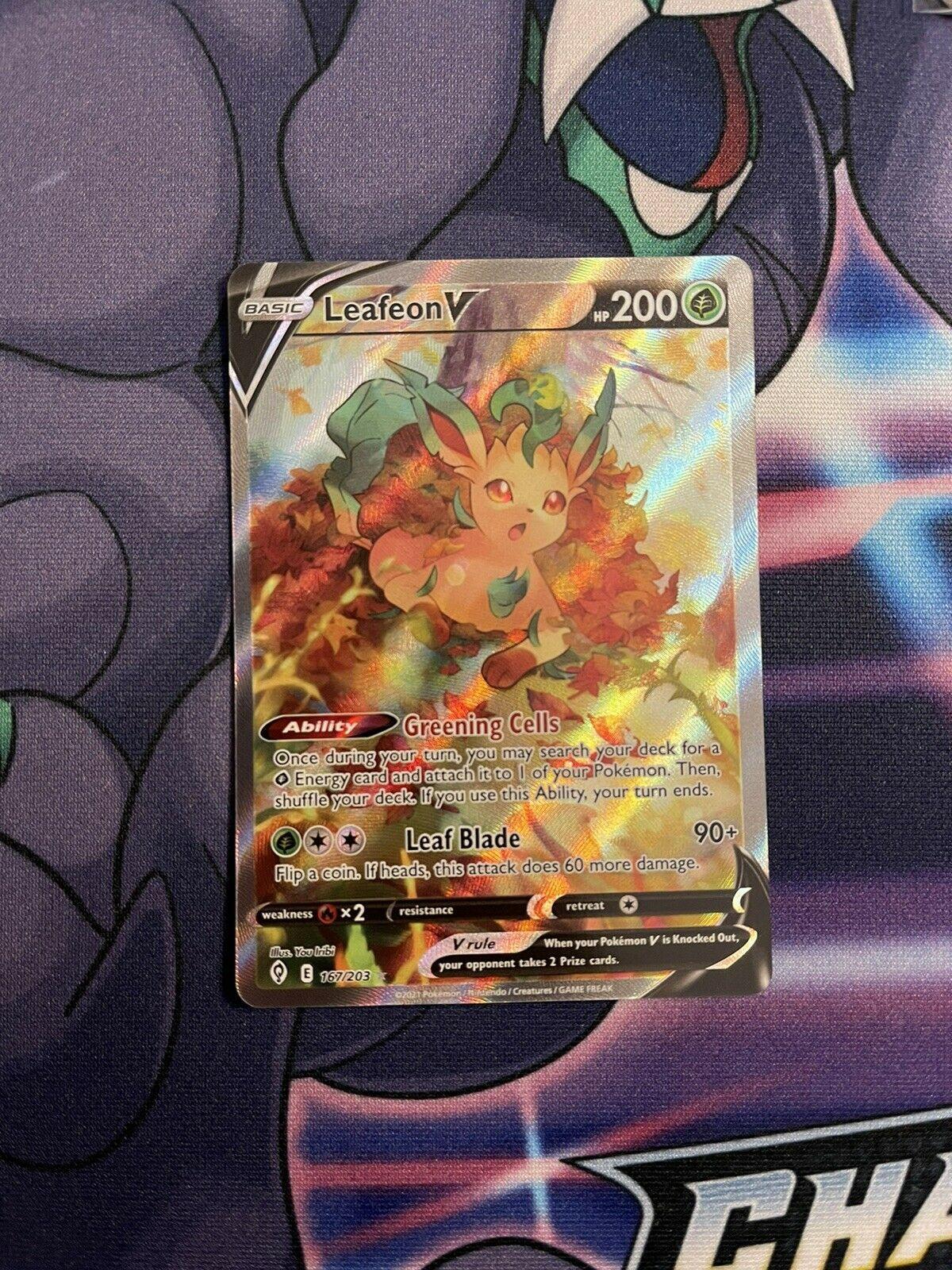 Leafeon V 167/203 Pokemon Evolving Skies Alternate Alt Art Ultra Rare