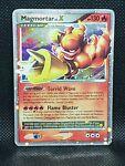 Pokemon Magmortar Lv. X Mysterious Treasures Holo 123/123 Damaged Condition