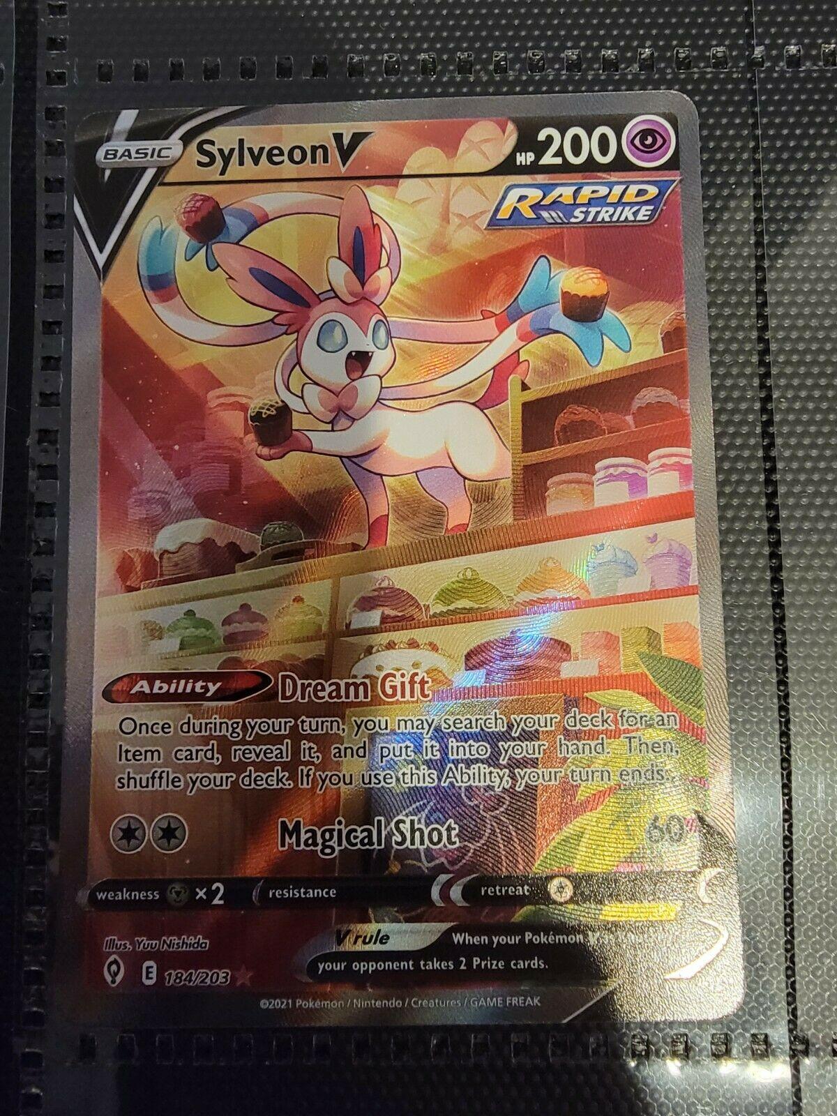 Pokemon - Evolving Skies - Sylveon V - 184/203 - Near Mint - Alternate Full Art