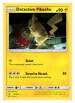 x1 Detective Pikachu - 10/18 - Rare Pokemon Detective Pikachu M/NM