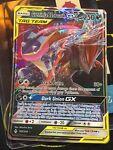 ULTRA RARE Greninja & Zoroark GX Tag Team 107/214 Pokemon SM Unbroken Bonds - LP