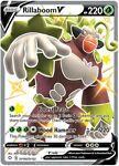 x1 Rillaboom V - SV105/SV122 - Shiny Holo Rare Pokemon Shining Fates M/NM