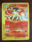 RAPIDASH HOLO POKEMON CARD 26/165 EXPEDITION NEVER PLAYED COND NM E READER