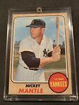 1968 Topps Baseball Card Of Mickey Mantle #280 - Mid Grade+!!