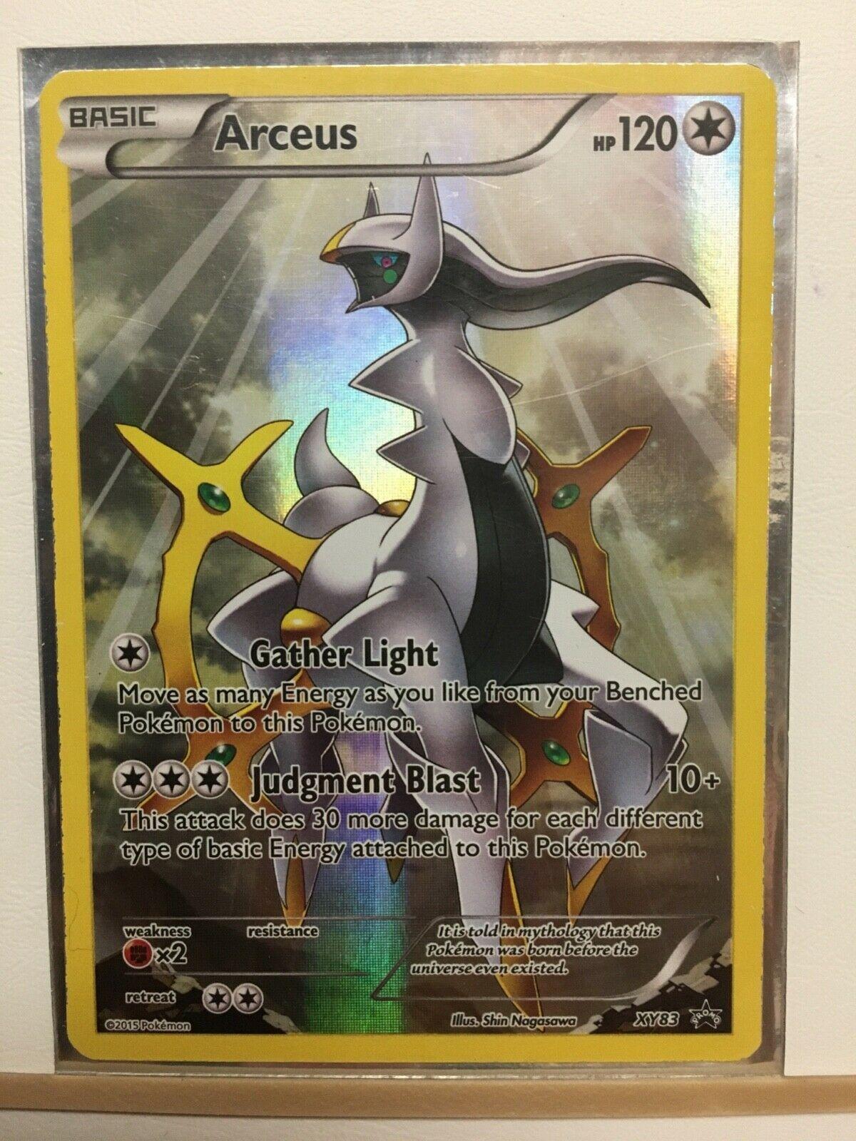 Arceus ULTRA RARE FULL ART Pokemon Black Star Promo XY83 - NM FAST FREE SHIPPING