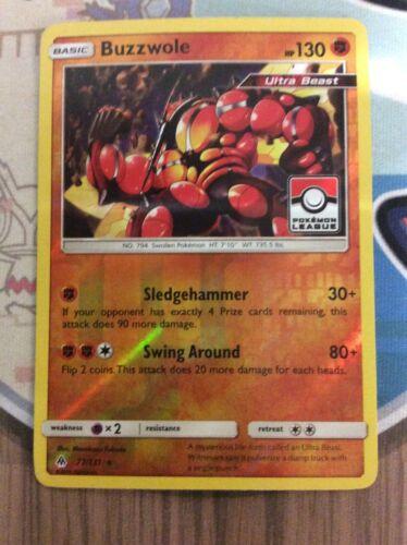Pokemon TCG - BUZZWOLE - Pokemon League - Holo Rare - Forbidden Light 77/131 - Image 3
