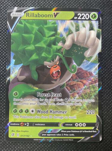 NM//M Pokemon Rillaboom V 017//192 Ultra Rare Rebel and Clash