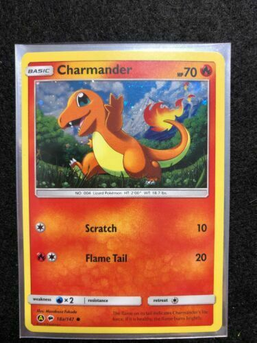 NM Pokemon Holo CHARMANDER Card BURNING SHADOWS Set 18a//147 General Mills PROMO