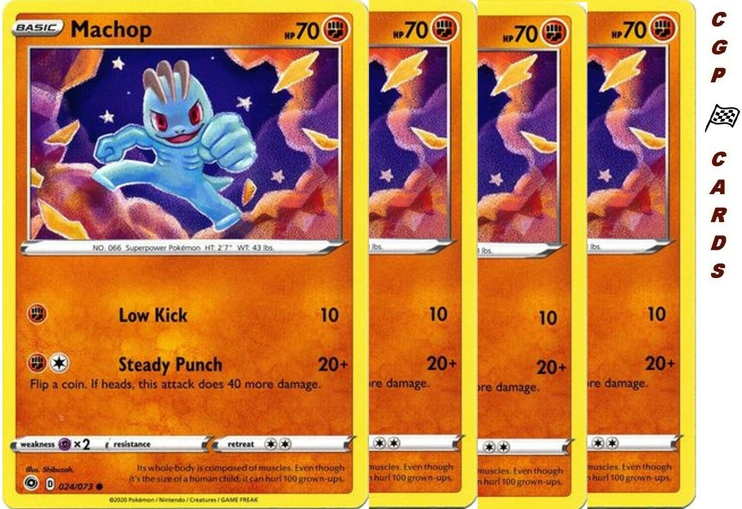 Pokemon TCG Machop 24//73 Reverse Holo Champions Path