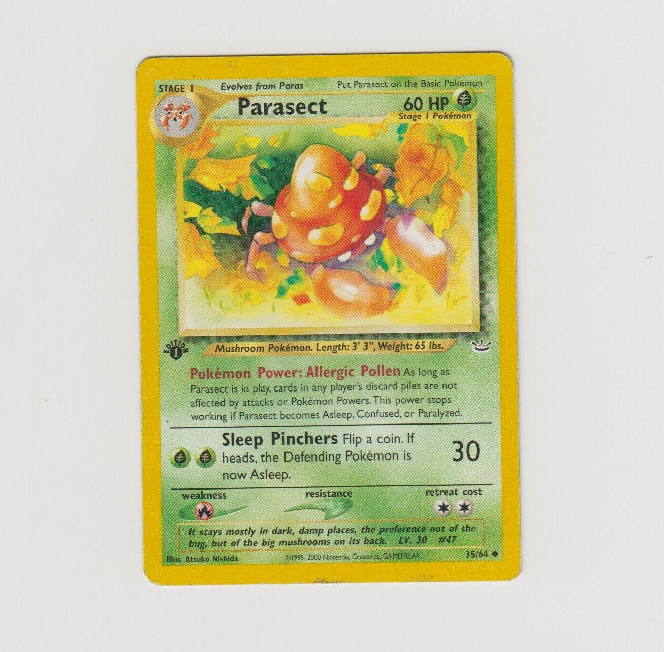 Pokemon Single Card Neo Revelation Parasect 35//64 NM//M Condition