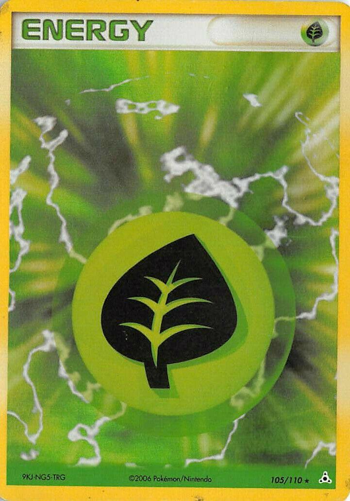 Mint 105//110 Grass Energy Holo Holon Phantoms Pokemon Card