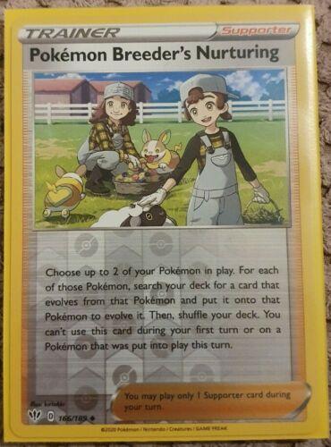 Pokemon Card  POKEMON BREEDER/'S NURTURING Reverse Holo 166//189 DARKNESS ABLAZE M